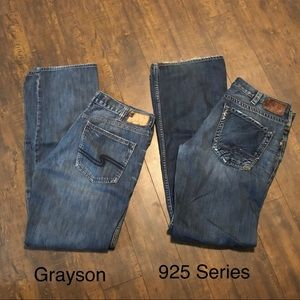 2 Pairs of Silver Jeans 34x36